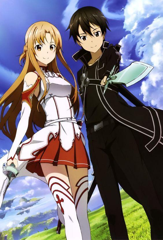 Sword Art Online, Asuna + Kirito, official art: