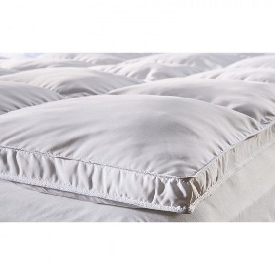 Down Mattress Topper Down Alternative Pads Covers Bedroom Bedding King White