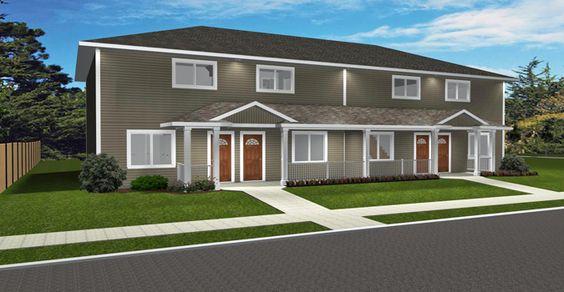 Plan 2015917 2 Storey 4 Plex By Edesignsplans Ca Open Concept Living Space In This Fourple House Construction Plan Duplex Floor Plans Apartment Floor Plans