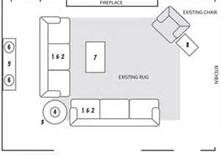 Furniture Placement Open Floor Plan 2 L Shaped Couches One Facing TV And Th
