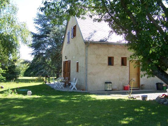 Maison ossature bois et isolation en chaux chanvre