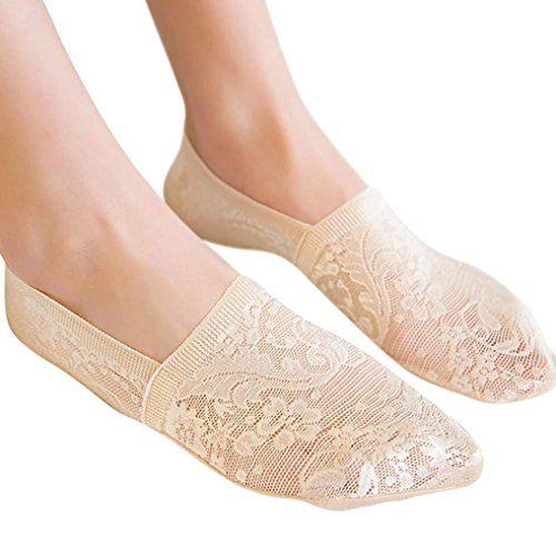 Short Ankle Invisible Liner No Show  Antiskid Socks Transparent Women Lace