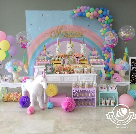 ONLY THE BACKDROP  Unicorn party
