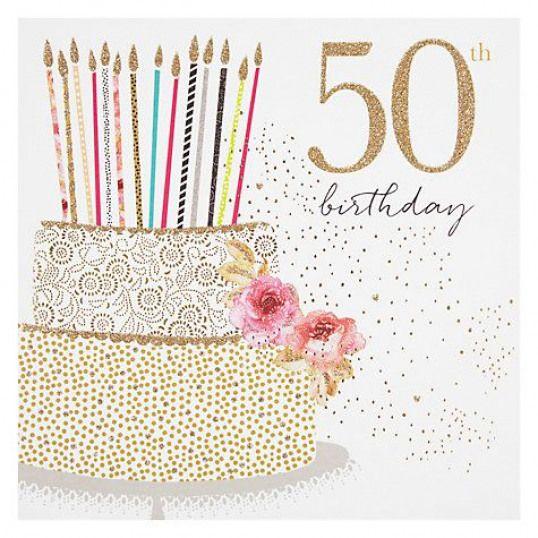 Buy Portfolio Cake 50th Birthday Card Online At Johnlewis Com 50thbirthday 50th Birthday 50th Birthday Wishes 50th Birthday Cards Happy Birthday Cards