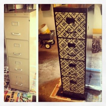 Pinterest the world s catalogue of ideas Upcycled metal filing cabinet