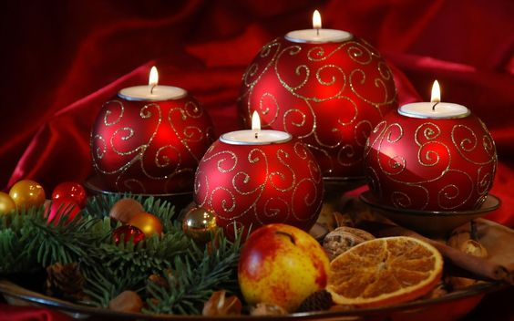 Christmas deco *Christmas decorations(balls,candle,apple,pine