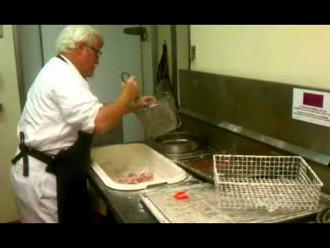 Colonel Sanders making chicken at the Clinton KFC