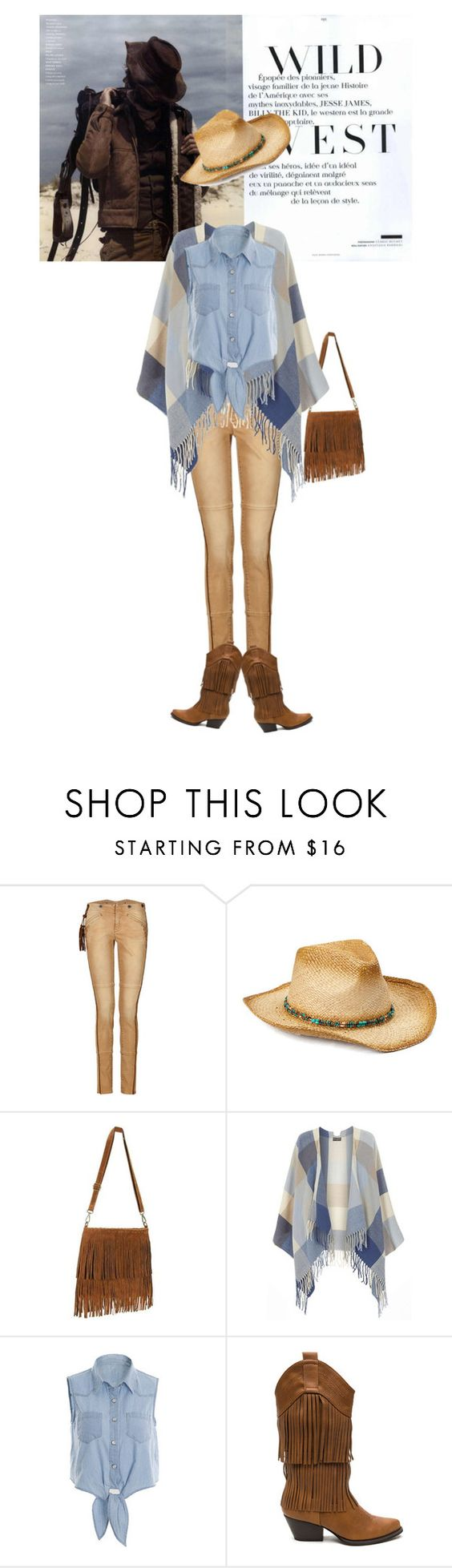 """Wild west"" by elarmariodelcamaleon ❤ liked on Polyvore featuring Ralph Lauren Blue Label, Boardwalk Style and Dorothy Perkins"