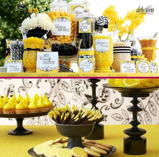 festa preta e amarela
