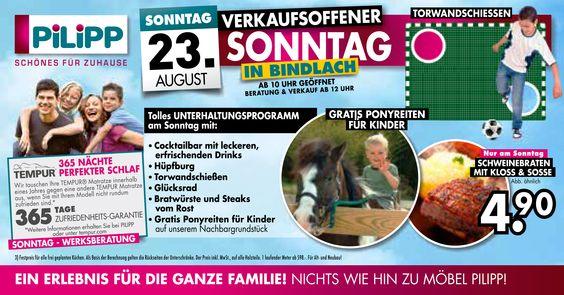 Cool VERKAUFSOFFENER SONNTAG bei Ihrem Eintrichtungscenter Pilipp in BINDLACH bei Bayreuth Aktionen und Gewinnspiele Pinterest