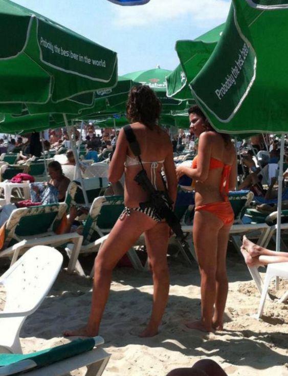 Αποτέλεσμα εικόνας για israel beach women rifle