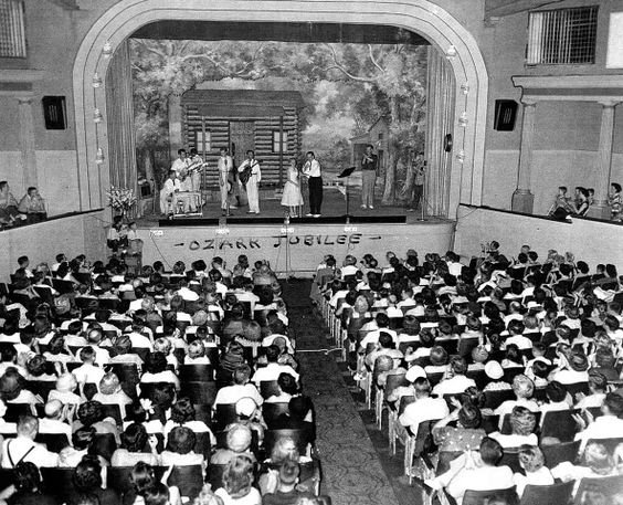 Opening Night Ozark Jubilee,1954, Red Foley on stage