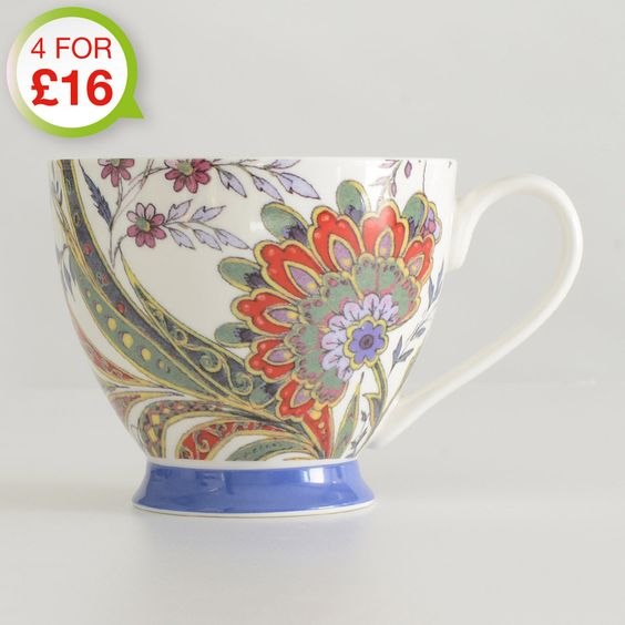 Footed Mug Paisley only £5 from ProCook