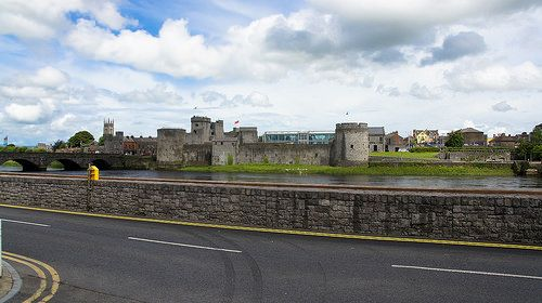 KING JOHN'S CASTLE AS SEEN FROM THE OPPOSITE SIDE OF THE RIVER SHANNON [The Streets Of Ireland]