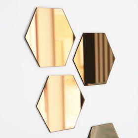 Set 4 miroirs fum s cuivre zodio atelier for Miroir zodio