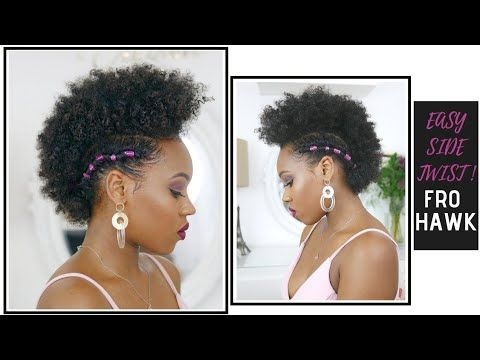 Easy Side Twist Curly Fro Hawk On Short Natural Hair How To Style Thursday Youtube Natural Hair Styles Short Natural Hair Styles Beach Waves Hair Tutorial