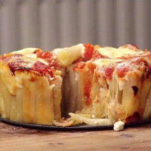 Incroyable recette de tarte aux pâtes Rigatoni facile et rapide