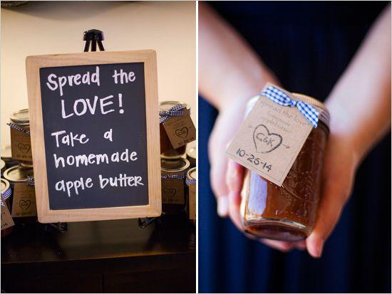 apple butter wedding favors Matt can show off his apple butter skills!!