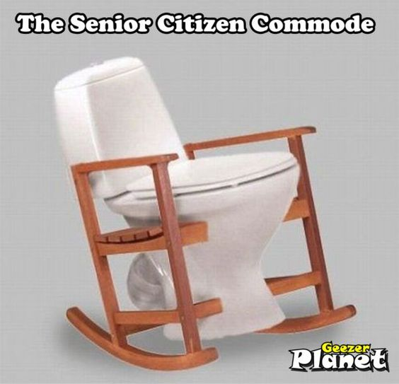 Senior Citizen Commode ~ Gotta Get Me One Of These, LOL!
