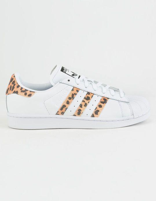 ADIDAS Superstar White \u0026 Cheetah Womens