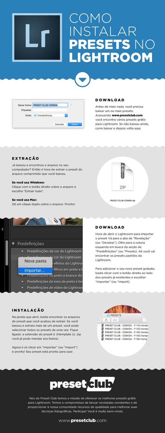 Instalação de presets grátis no Lightroom em 4 passos simples.