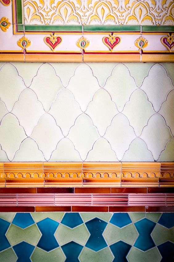 great mixture of shapes and colors #tile #pattern