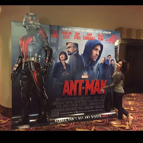 #instagram @mikeyway Ant Man w/ my favorite gal @kristincolby https://instagram.com/p/5ORW8Smx0c/ // my instagram https://instagram.com/wolkanca