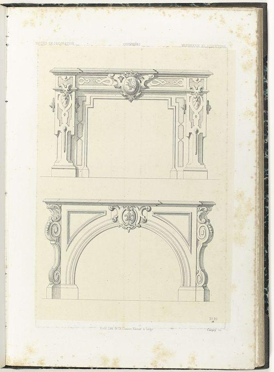 Twee onderboezems, Anonymous, Etablissement Lithographique De Charles Claesen, c. 1866 - c. 1900