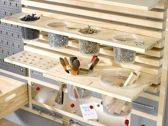Toom Kreativwerkstatt Werkzeugwand Kalle Werkzeugwand Aufbewahrung Werkstatt Werkzeugwand Holz