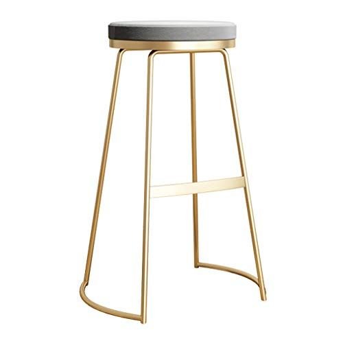Nordic Designer Bar Stools Backless Velvet Upholstered Seat Metal Gold Pub Counter Height Cha Designer Bar Stools Bistro Stools Contemporary Modern Furniture