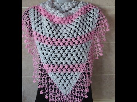 Crochet Pattern Very Pretty And Easy Crochet Shawl Youtube