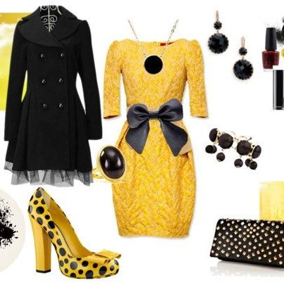 What's not to like about this outfit bumble bee!!! Wear this to church!