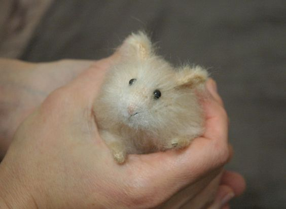 realistic hamster in hand: Handmade Stuffed Animals by Natasha Fadeeva