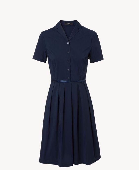 Blusenkleid aus Baumwolle Navy von Steffen Schraut | UNGER-FASHION.com