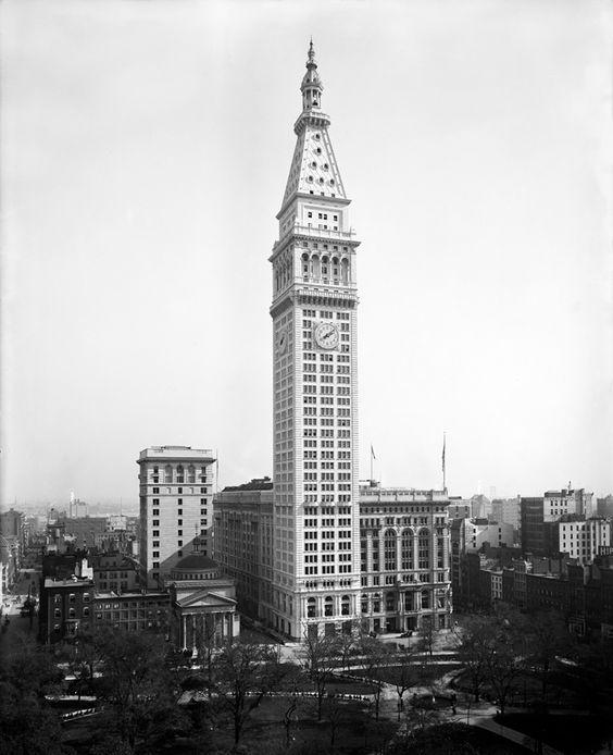 Metropolitan Life Insurance Company Tower, Napoleon LeBrun & Sons, 1893-1909