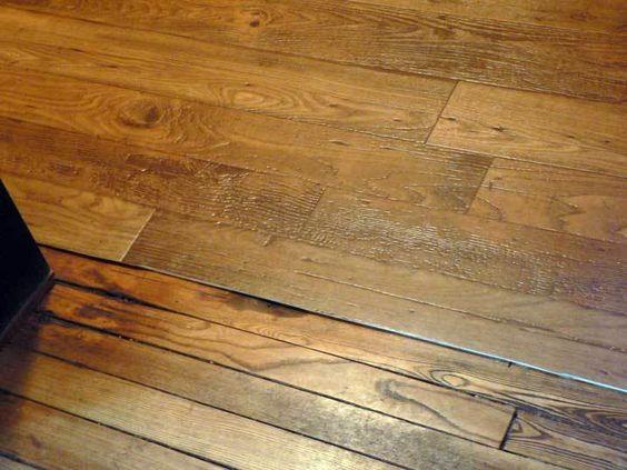 Pine floorboard effect lino