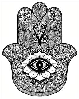 Main de fatma khamsa pinterest recherche - Coloriage main de fatma ...