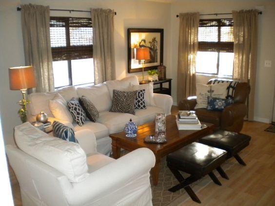 Manufactured home decorating ideas modern cottage style eigentijdse woonkamers - Eigentijdse woonkamers ...