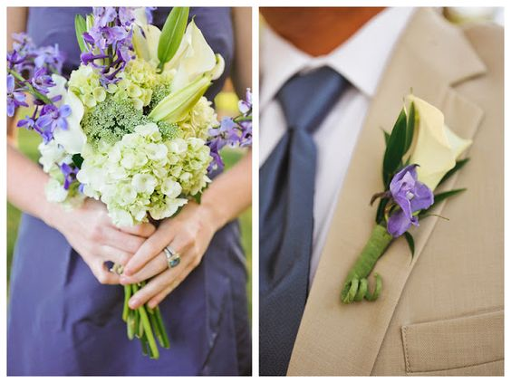 Oh Lovely Day, my wedding flowers. Lillies and hydrangeas