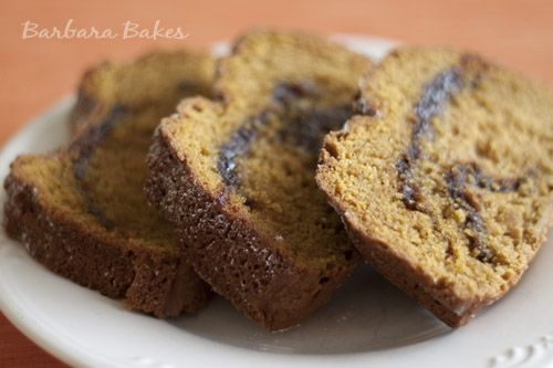 Combining pumpkin bread with yummy nutella...what could be better?