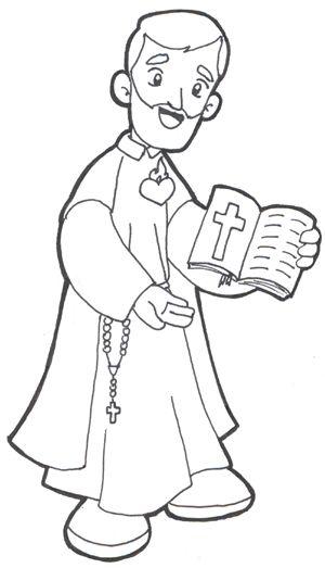 Saint Philip Neri coloring page