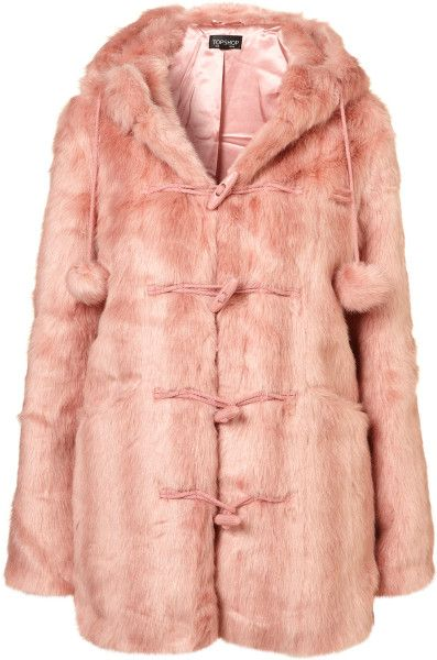 Pink Fur Coat Topshop - Coat Nj