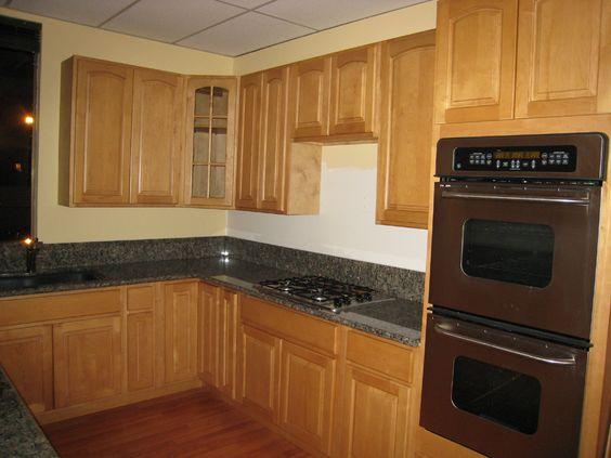 Kitchen Cabinets Ideas walnut shaker kitchen cabinets : natural maple kitchen cabinets dark counter | Maple Shaker/Maple ...