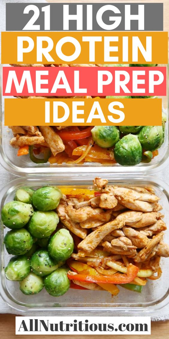 21 High Protein Meal Prep Ideas