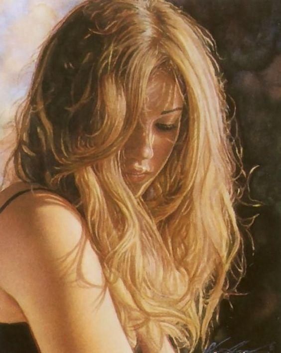 women in the paintings 34 Watercolor Master Steve Hanks