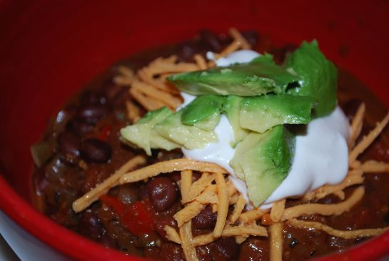 Black Bean Chocolate Chili   Kid Tested Firefighter Approved