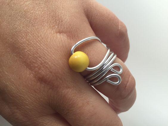"Ringe - Tagua-Ring ""Yellow"" - ein Designerstück von phitolotta bei DaWanda"