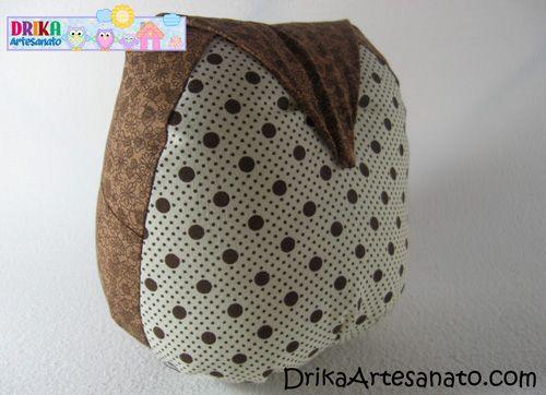 Peso de porta de coruja passo a passo - Drika Artesanato