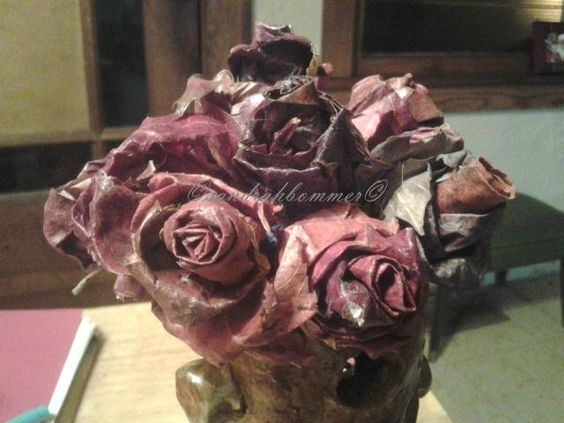 rose flower- made from the Maple Trees-leaves