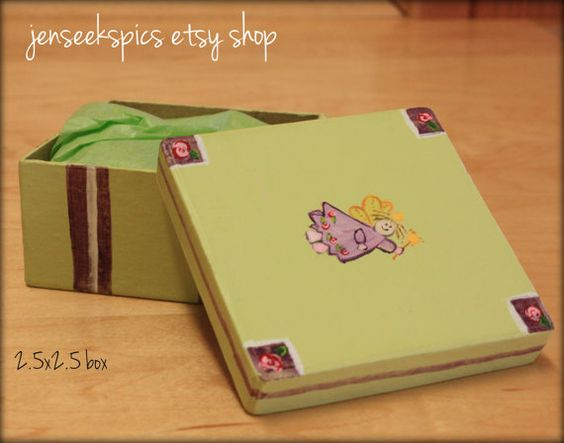 Small, Hand Painted #Keepsake #Boxes or #Toothfairy Boxes